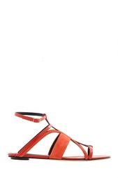 Кожаные сандалии Oscar de la Renta