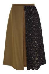 Шерстяная юбка Rochas