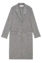Пальто из шерсти и льна Nina Ricci
