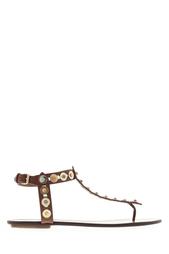 Кожаные сандалии Byzntine Aquazzura