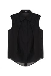Хлопковая блузка Jil Sander Navy