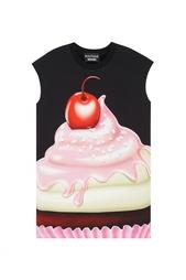 Хлопковое платье Boutique Moschino