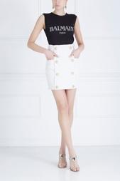 Однотонная юбка Balmain