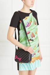 Кожаная сумка Boutique Moschino
