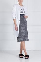 Хлопковое платье-рубашка Mo&Co