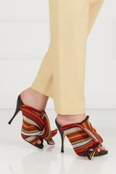 Туфли-мюли с вышивкой No.21