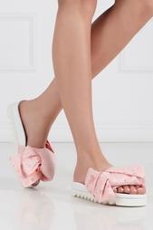 Кружевные сандалии Pink Macrame Bow Joshua Sanders