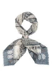 Шерстяной платок «Русский орнамент» Gourji