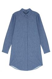 Платье-рубашка из денима Jil Sander Navy