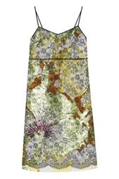 Платье из хлопка и шелка Rochas