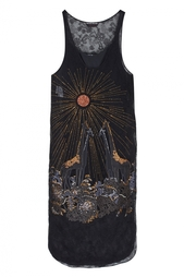 Платье с вышивкой Rochas