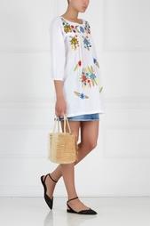 Хлопковое платье с вышивкой Sensi Studio