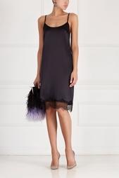 Шелковое платье с кружевом Esve