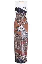 Платье в пол с леопардовым принтом Alexander Terekhov