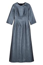Платье из хлопка с люрексом Alexander Terekhov