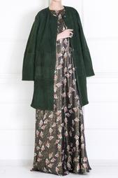 Платье из шелка с люрексом Alexander Terekhov