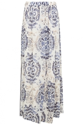 Шелковая юбка Tory Burch
