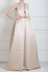 Платье из атласной ткани Rochas
