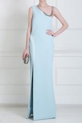 Платье с металлическим воротом Mugler