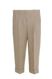 Льняные укороченные брюки Michael Kors
