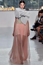 Платье из шелка и хлопка Delpozo