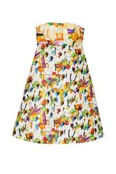 Хлопковое платье-бюстье Stella Jean