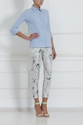 Шелковые брюки Rochas