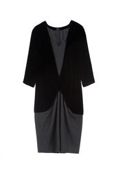 Платье из шерсти и хлопка Louis Feraud Vintage