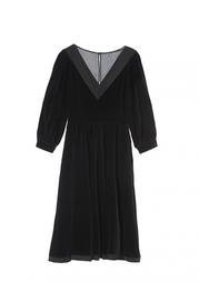 Платье с V-образным вырезом Louis Feraud Vintage
