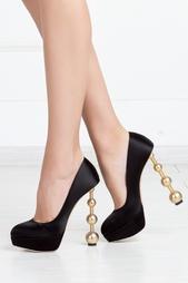 Шелковые туфли Century Heels Charlotte Olympia