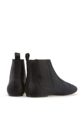 Кожаные ботинки с мехом пони Isabel Marant
