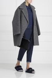 Пальто из шерсти альпака No.21
