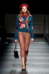 Прозрачная юбка с вышивкой Gucci