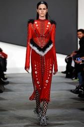 Платье с мехом Proenza Schouler