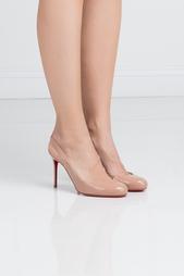 Туфли из лакированной кожи Fifi Sling 85 Christian Louboutin