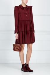 Платье с кружевной вышивкой Philosophy Di Lorenzo Serafini
