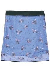 Прозрачная юбка с аппликациями Mary Katrantzou