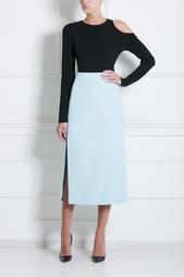 Прямая юбка с разрезом Mugler