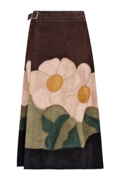 Замшевая юбка Valentino