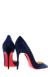 Синие Замшевые туфли Iriza 100 Christian Louboutin