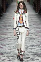 Жакет из шелка и хлопка Gucci