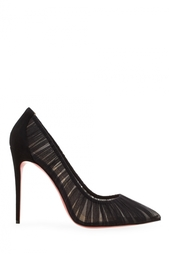 Шелковые туфли Follie Draperia 100 Christian Louboutin