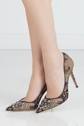 Туфли с кристаллами Lyzo Jimmy Choo