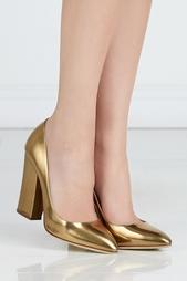 Туфли из металлизированной кожи Sergio Rossi