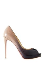Разноцветные Туфли из лакированной кожи New Very Prive 120 Christian Louboutin