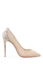 Туфли из шелка и кожи Follie Draperia 100 Christian Louboutin