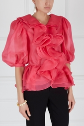 Блузка с воланами Guy Laroche Vintage