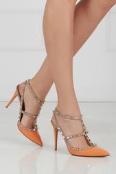 Розовые Туфли из лакированной кожи Valentino