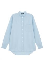 Рубашка из хлопка и шелка Rochel Bruuns Bazaar