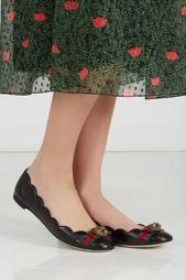 Кожаные балетки Gucci